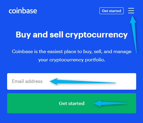 Coinbase - sign in to
