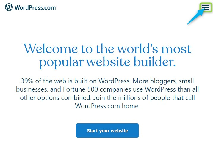 wordpress - sign in to